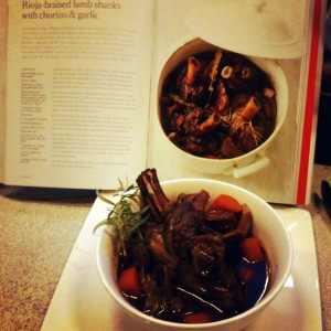 Lamb Shanks with Rioja