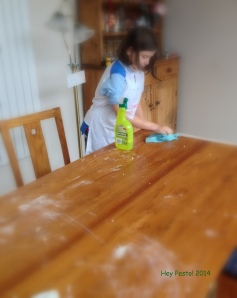 ella cleaning