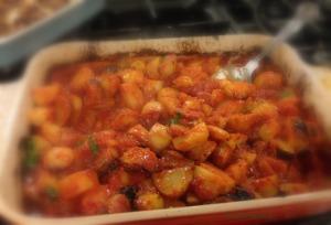 Dish of Patatas Bravas