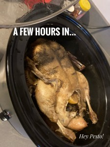 duck cooking in slow cooker