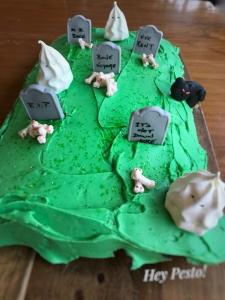 green graveyard cake