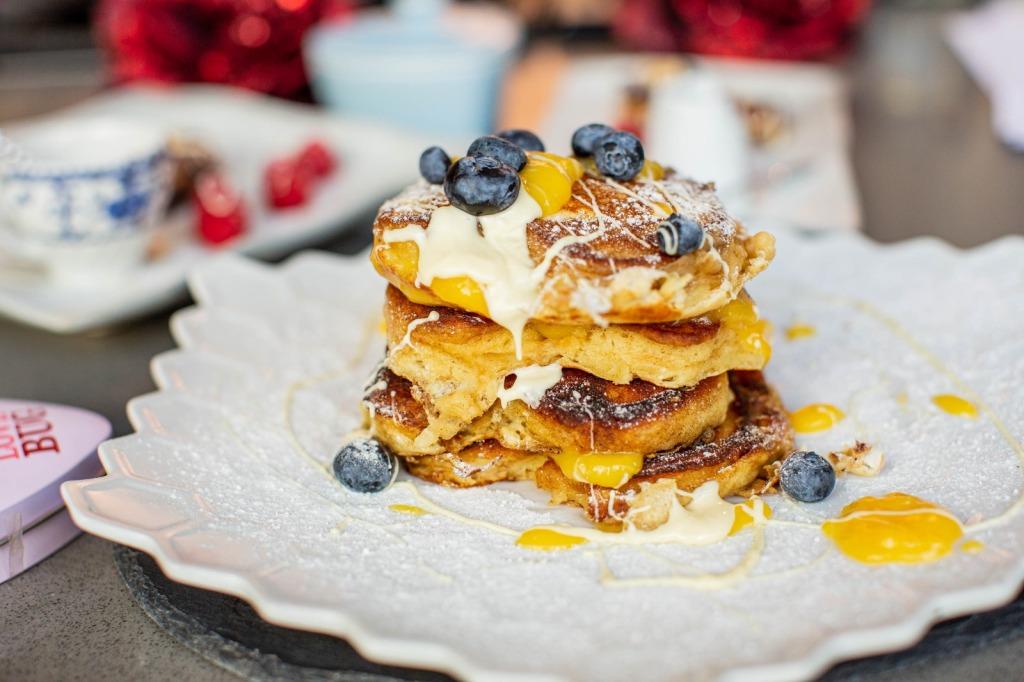 pancake stack side view
